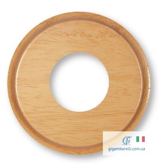Дерев'яна кругла накладка (рамка) з фрез. Ø 80 / Ø 100 (світлий дуб)
