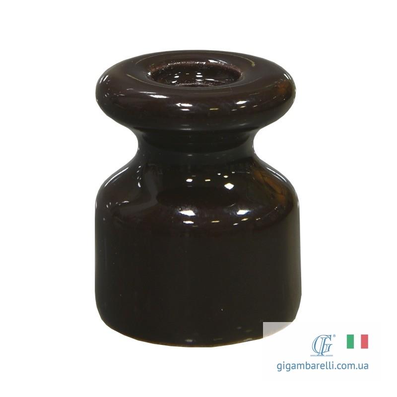 Ізолятор порцеляновий темно-коричневий ø 19