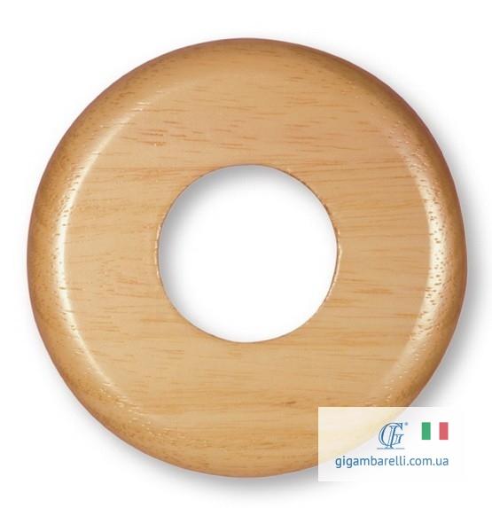 Дерев'яна кругла накладка (рамка). Ø 80 / Ø 100 (світлий дуб)