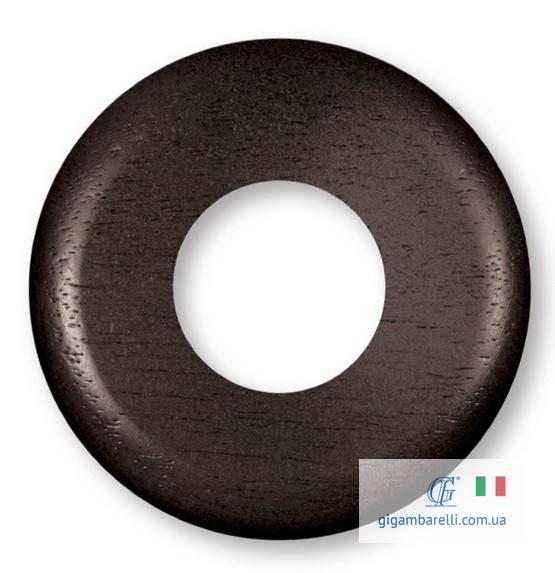Дерев'яна кругла накладка (рамка) Ø 80 / Ø 100 (темний горіх)