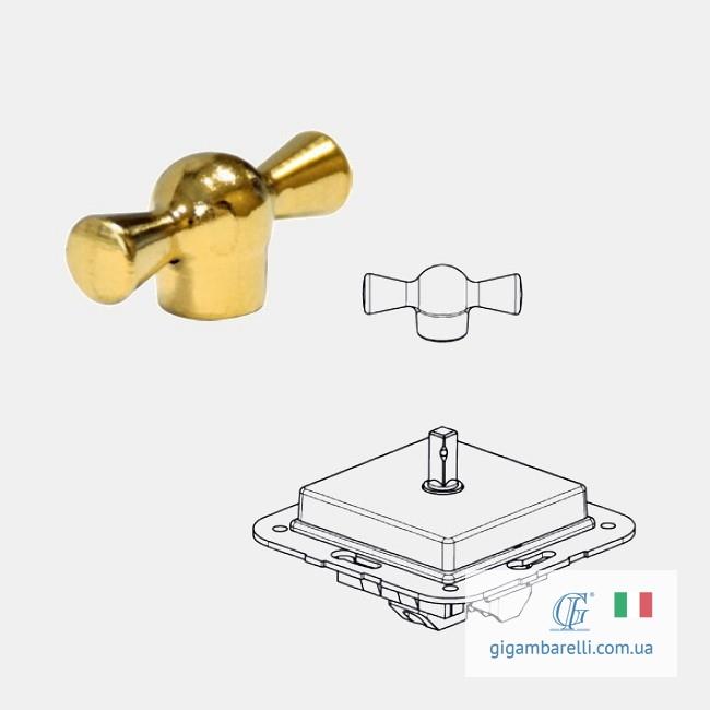 Порцеляновий вимикач BUTTERFLY (золото) серія Arreda