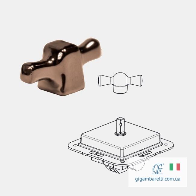 Порцеляновий квадратний вимикач INGOT - мідь - серія Arreda
