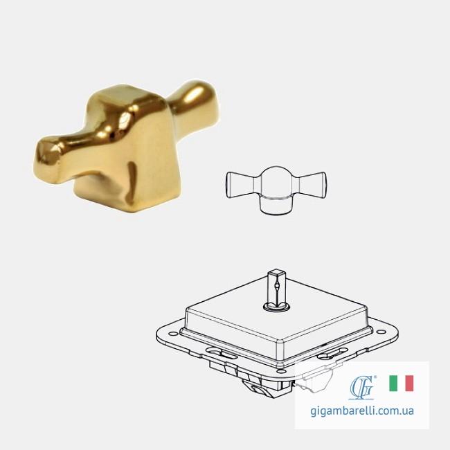 Вимикач квадратний INGOT (золотий) - серія ARREDA