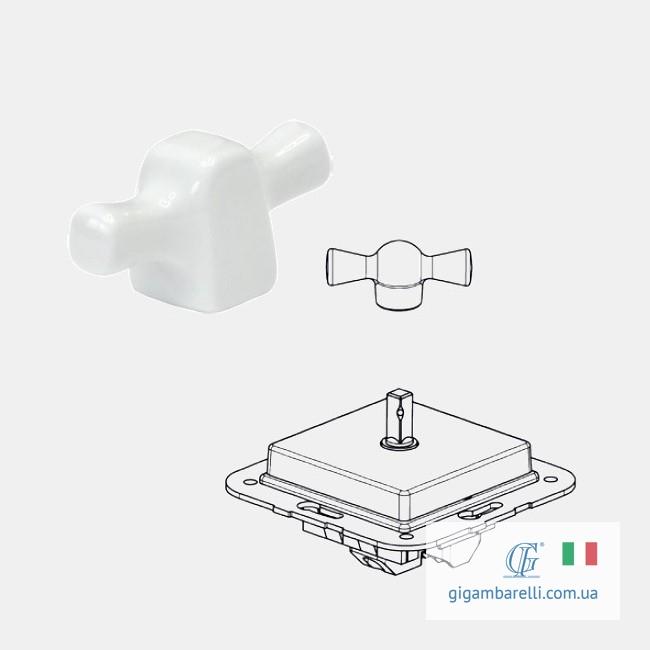 Порцеляновий квадратний вимикач INGOT (білий) - серія Arreda