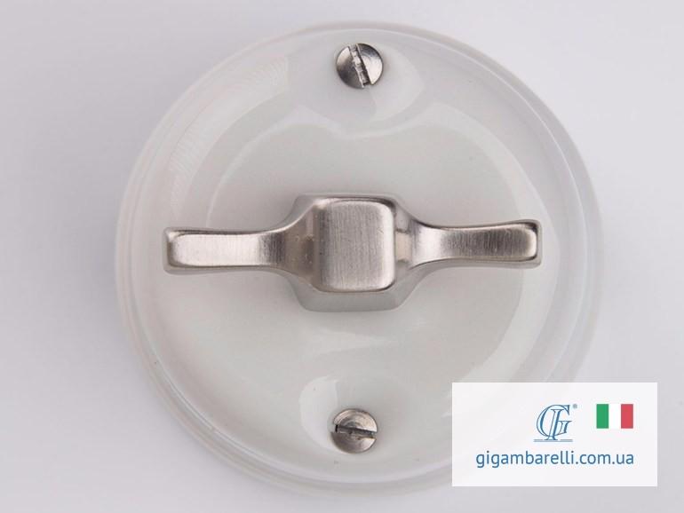 Порцеляновий модерн вимикач MODERN (chrome) серія White Italy