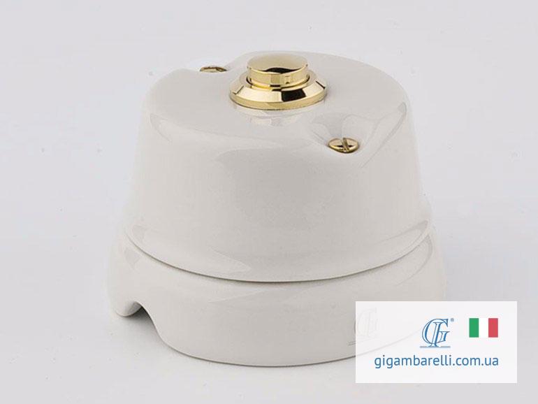 Порцелянова кнопка дзвінка (gold) серія White Italy