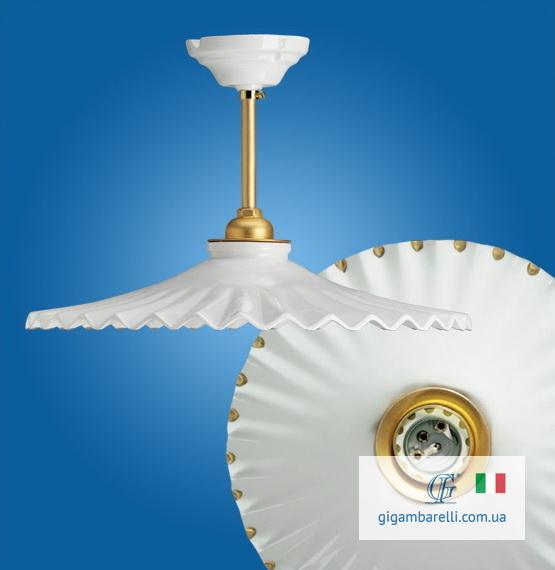 Люстра-підвіс на трубці Ventaglio gocce d'oro (Італія)