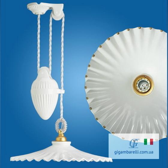 Люстра-підвіс регульована Ventaglio gocce d'oro (Італія)